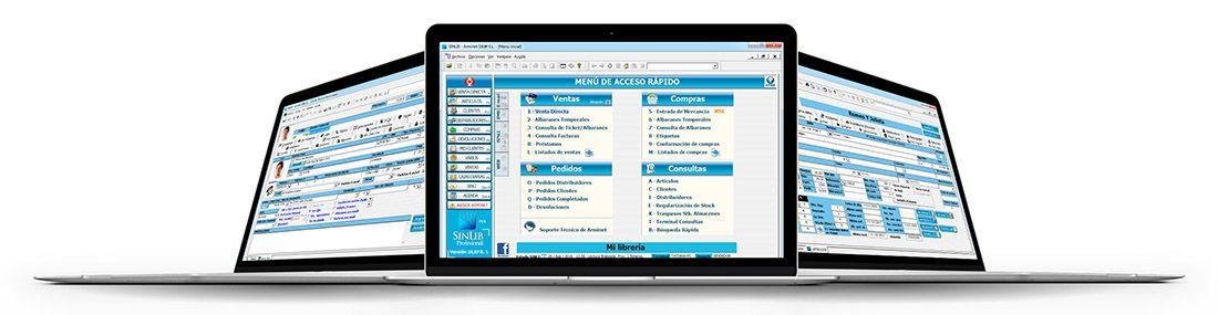 SINLIB, Software para gestión de libros, papelería y prensa.